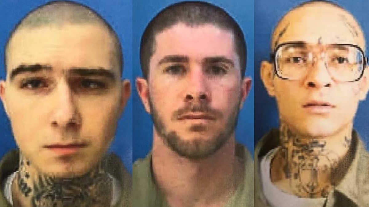 According to deputies, Aaron Scarborough (left), Christopher Harvey (middle) and Trey Jones...