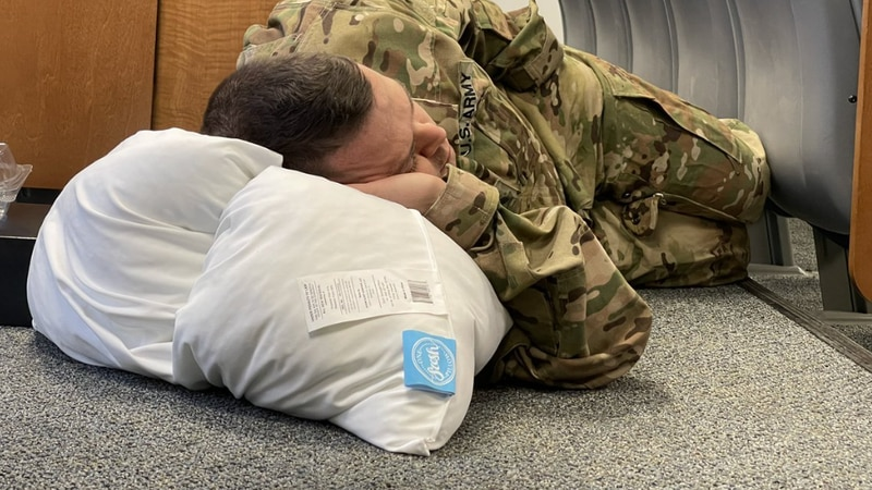 Pillows for D.C. National Guard