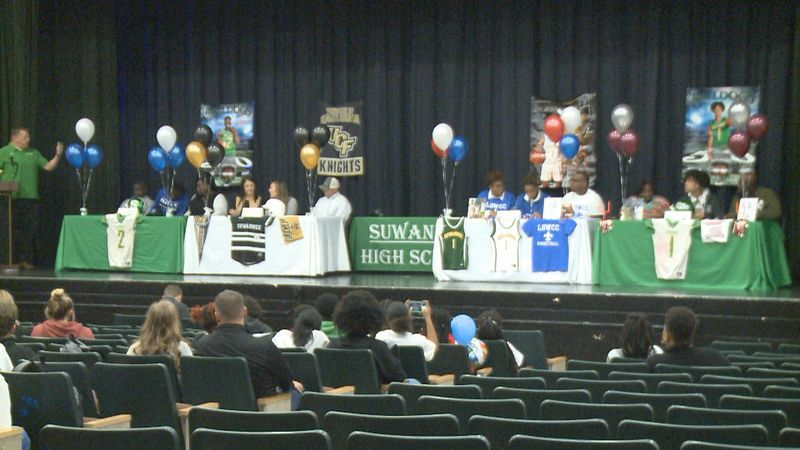 Four Suwannee Bulldogs signed their national letters of intent on Wednesday, making their...