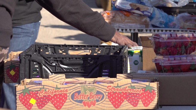 Farm Share and The Lamb Temple of God Church were partnered  up to host a food giveaway in...