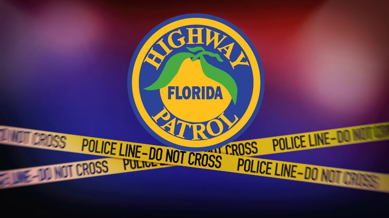 Florida Highway Patrol (FHP) logo and crime scene tape