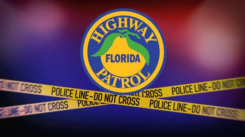 Florida Highway Patrol (FHP) logo and crime scene tape