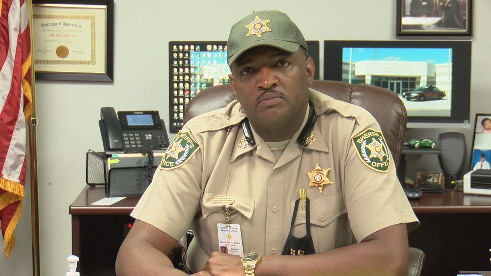 Sheriff Bryant said the victim left her car unlocked with her keys in it