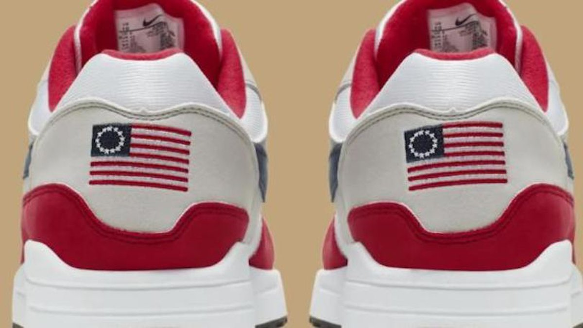 Nike is canceling a sneaker that featured a version of the American flag from the late 18th...