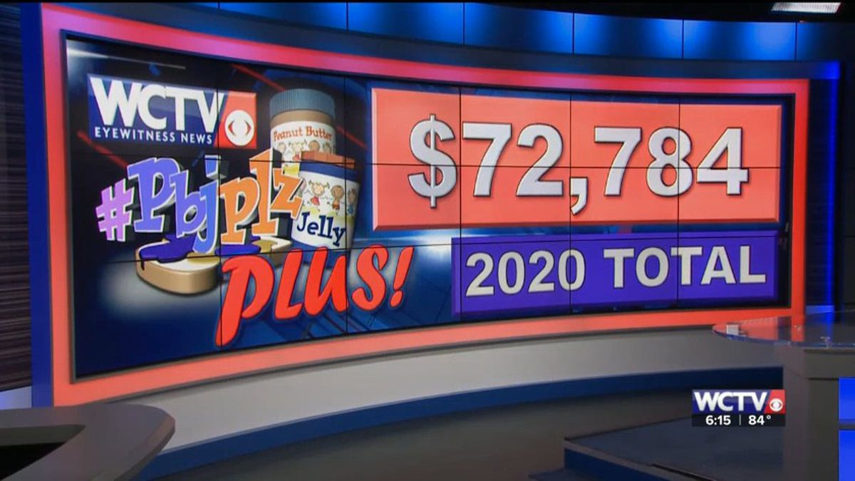 In addition to the truckload of peanut butter, WCTV's PBJ PLUS! drive raised more than $72,000 for Second Harvest of the Big Bend and Second Harvest of South Georgia. The money will be used to buy peanut butter and jelly and other kid-friendly foods.