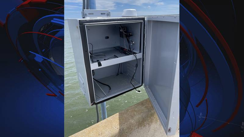 The WeatherSTEM unit located on the St. George Island Bridge in Franklin County was vandalized...