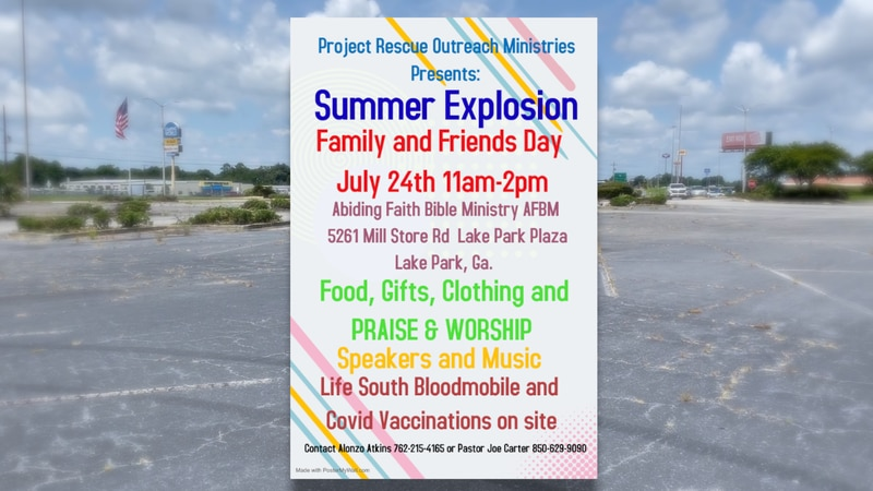 The event will be Saturday in Lake Park.