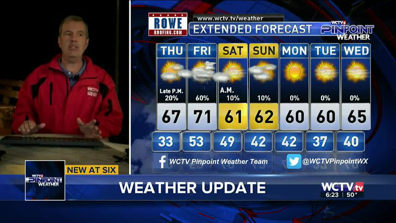 Chief Meteorologist Mike McCall takes a look at your forecast for the evening of Wednesday,...