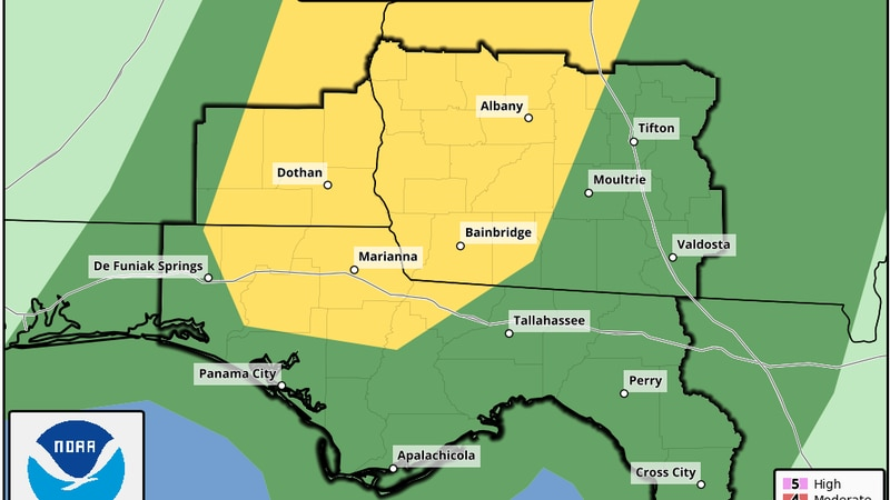 Severe Weather Threat  from the Storm Prediction Center valid for Aug. 31, 2021.