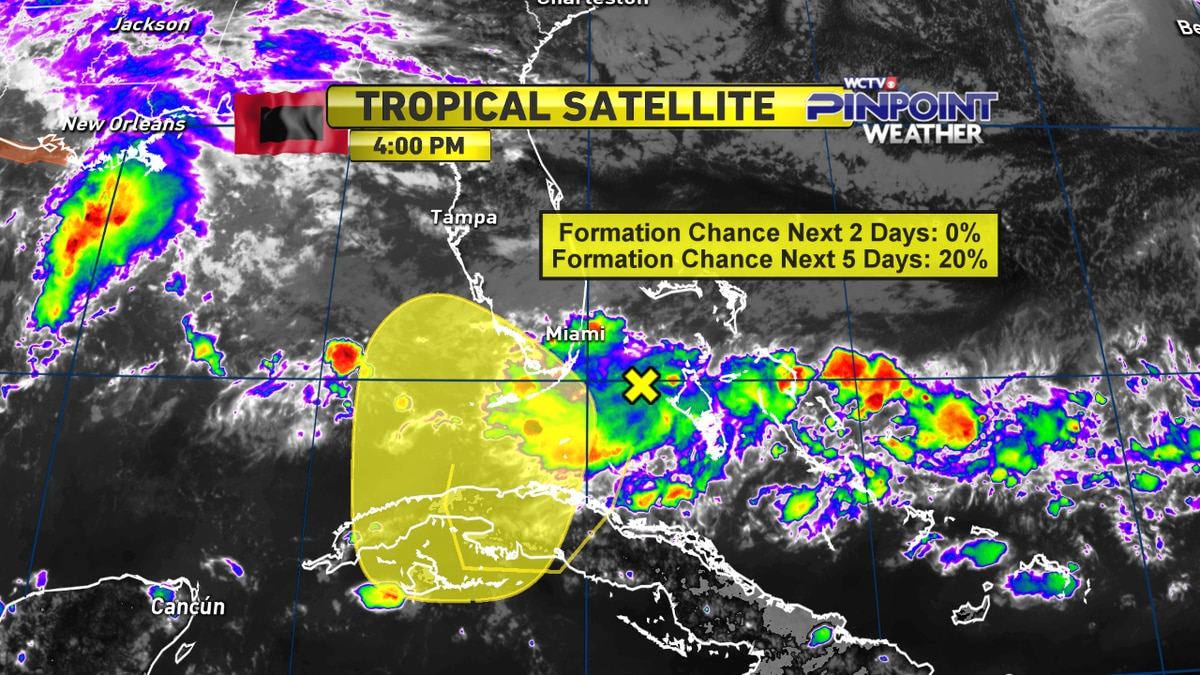 The National Hurricane Center is watching a cluster of storms off of Florida's southeastern coast for a low chance of tropical cyclone development.