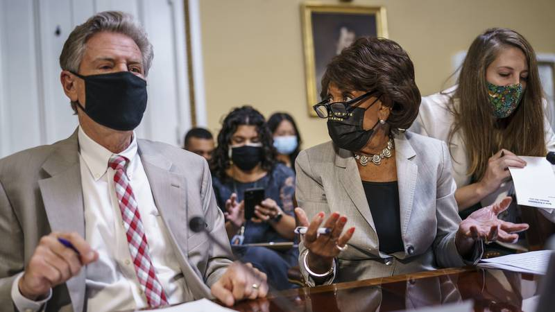 FILE - House Energy and Commerce Chairman Frank Pallone, D-N.J., left, and House Financial...