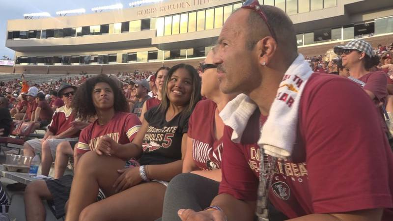 Steve Chaisson and his family attend the FSU vs. Syracuse game on Saturday, October 2, 2021.