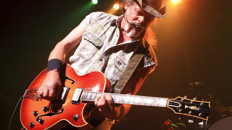 FILE - This Aug. 16, 2013, file photo shows Ted Nugent performing at Rams Head Live in...
