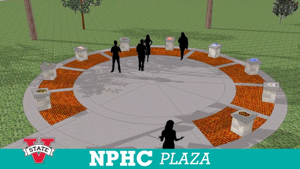 A new National Pan-Hellenic Council Plaza coming soon to VSU.