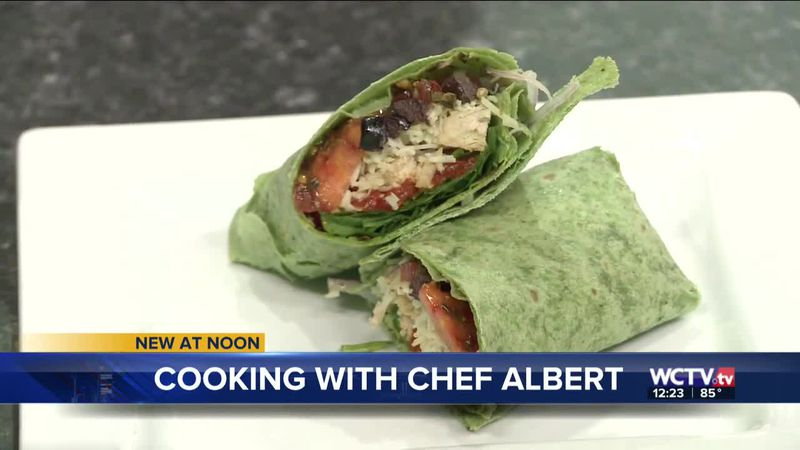 Chef Albert Schmid says these Italian chicken wraps are perfect for picnics and the beach!