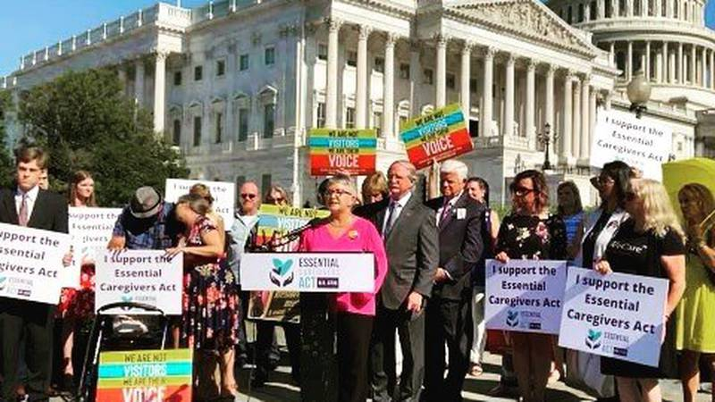 The founder of Caregivers for Compromise, Mary Daniel, and other chapter presidents, traveled...