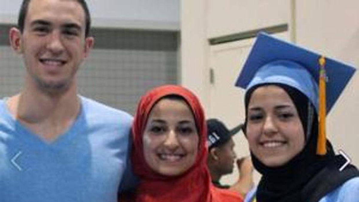 Deah Shaddy Barakat, 23, his wife, Yusor Mohammad, 21, and her sister, Razan Mohammad Abu-Salha, 19. Courtesy: CBS News, WRAL