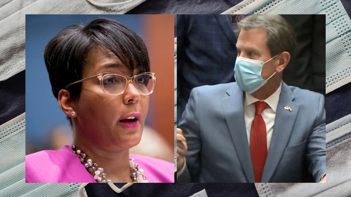 Atlanta Mayor Keisha Lance Bottoms told residents of the state's largest city to stay home except for essential trips and for restaurants to limit themselves to takeout, but the Republican Kemp has barred local officials from taking actions stronger than his statewide mandates.