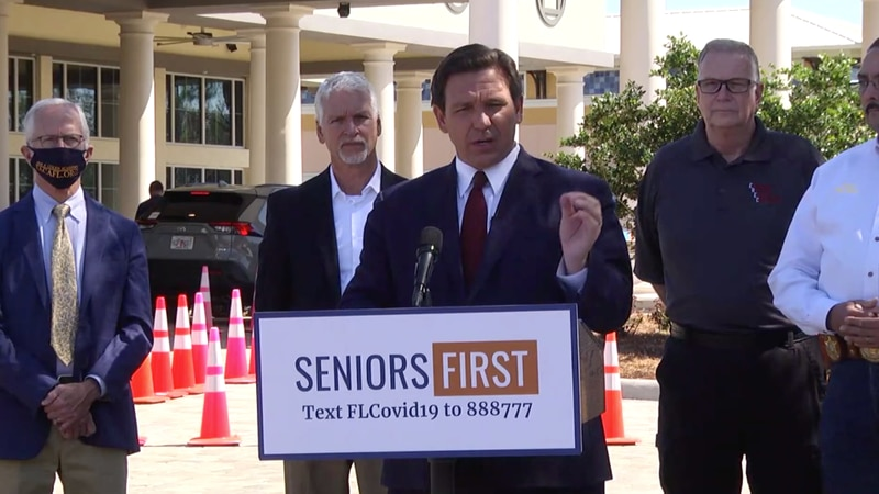 According to Florida Gov. Ron DeSantis, the age for vaccine eligibility could be lowered to...