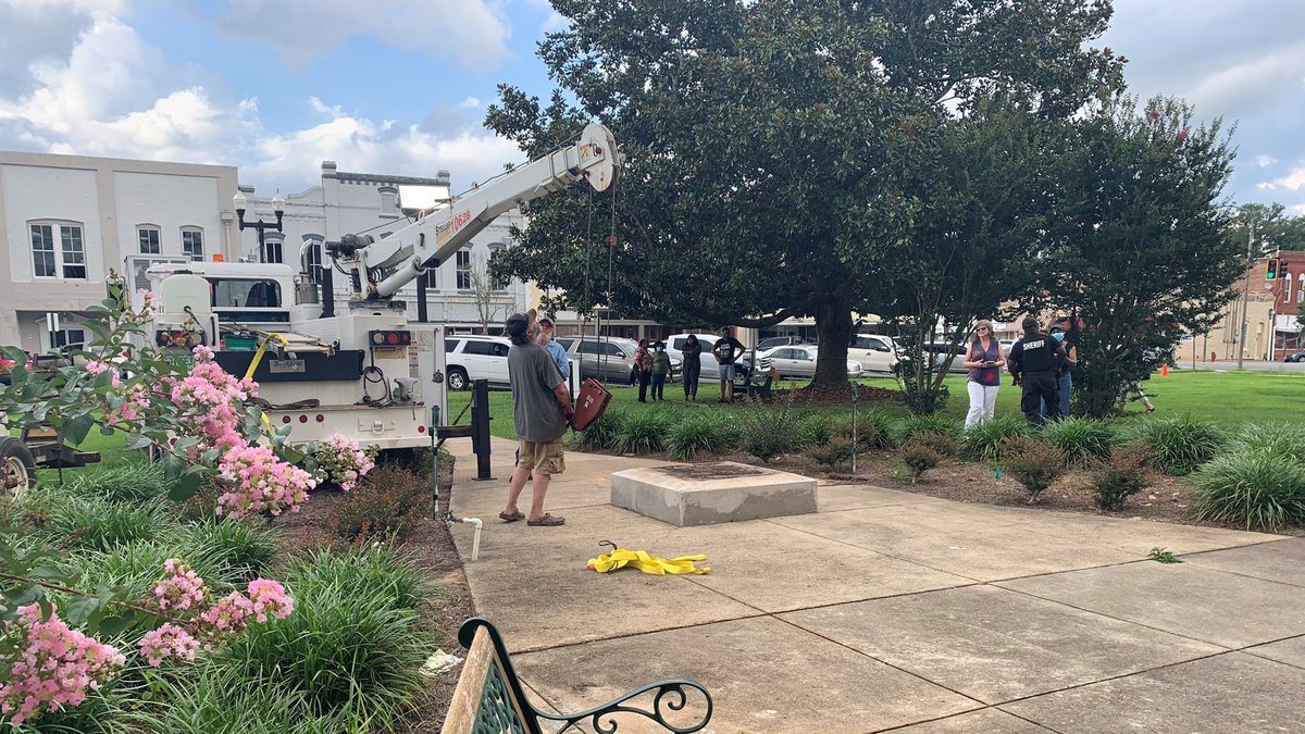 Less than 30 minutes after the county commissioners voted, a crew was on scene to remove a...