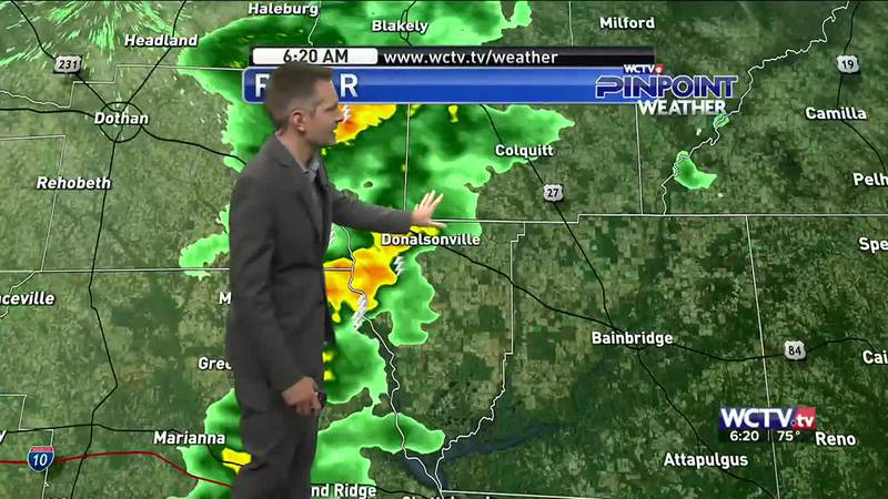 The showers started early for some locations Monday morning, but will the odds stay up for the...