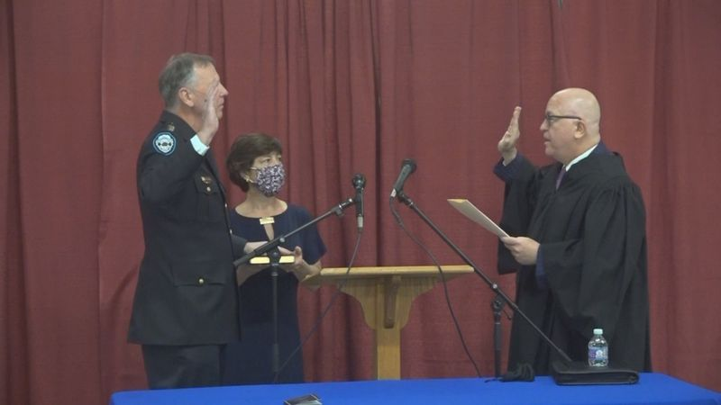 Monday night, John Letteny was sworn in as the department's new Chief of Police in front of a...
