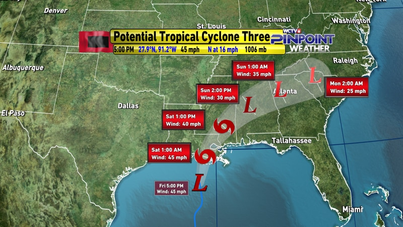 Potential Tropical Cyclone Three