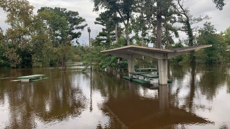 Calhoun County is still feeling the aftermath of Hurricane Sally as rising water levels are...