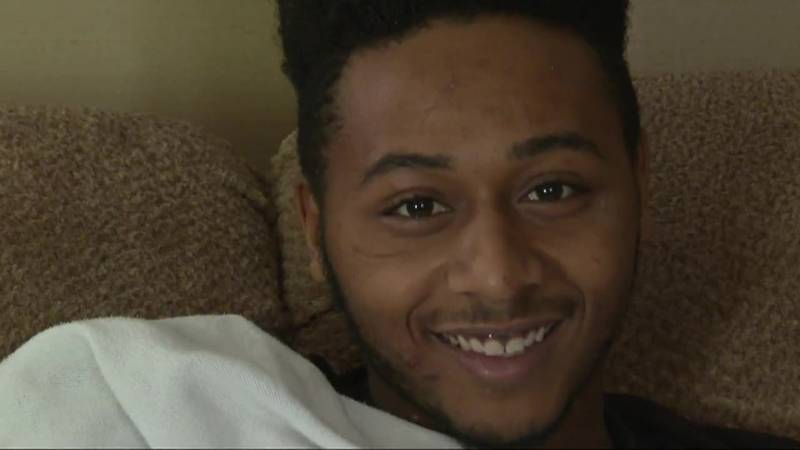 Weeks after suffering several gunshot wounds to the stomach, Nas'Zir Chandler, 18, will...