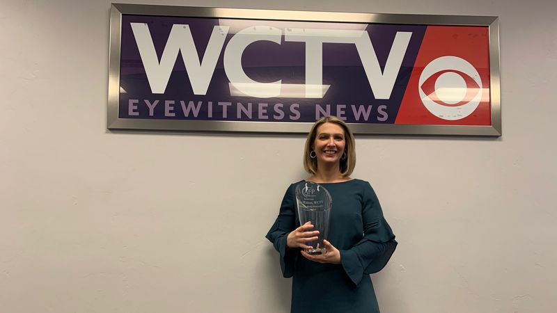 WCTV's Walton was also honored as the 2020 Outstanding Media Outlet or Personality of the Year.