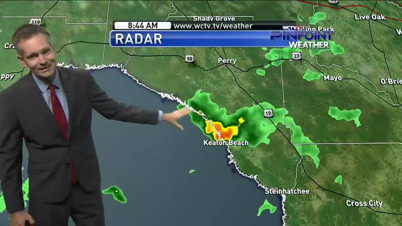 Showers and storms were back along the coast Sunday morning, but we could see more of nature's...