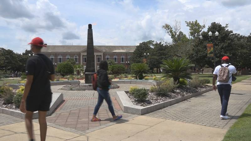 Students return to FAMU's campus for the Fall 2021 semester.