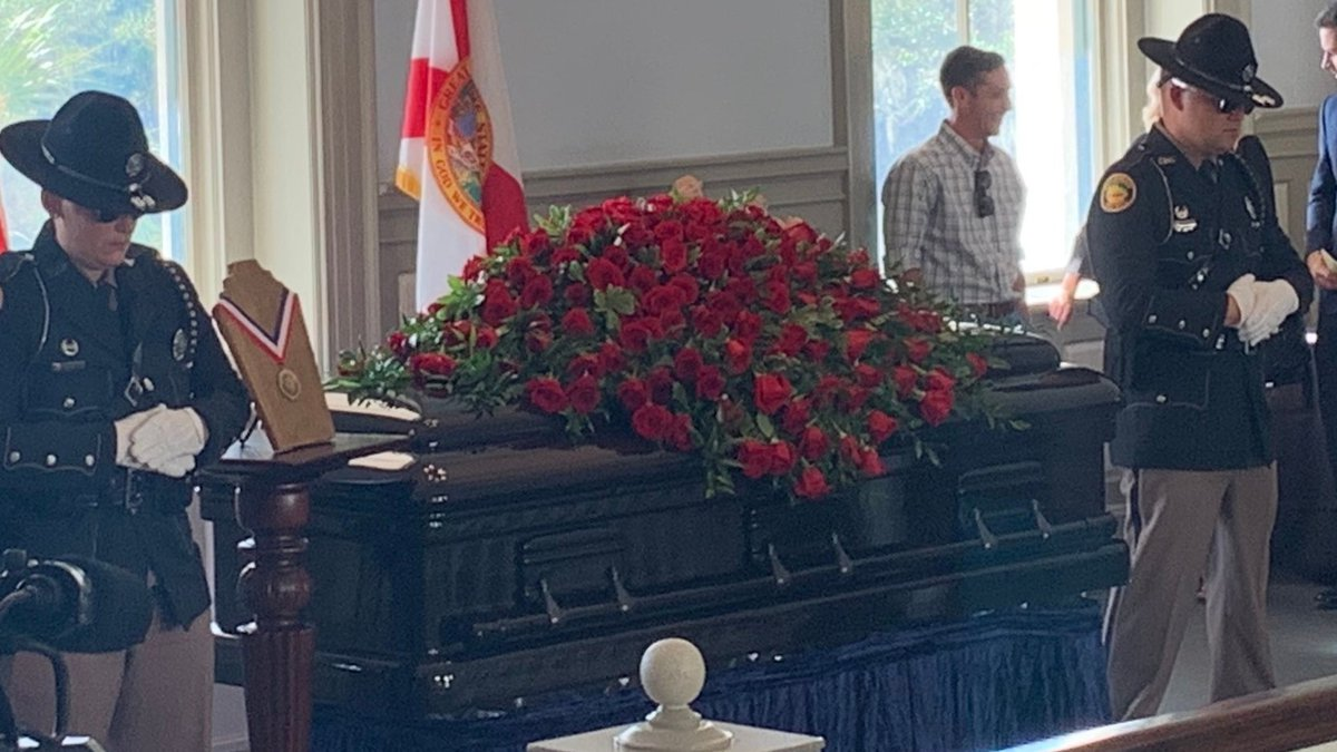 People gave the Bowden family their condolences as Bobby's casket was on display.