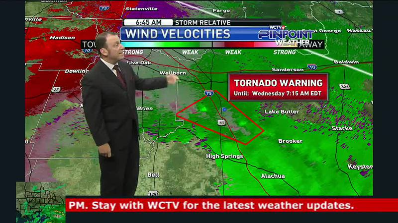 Meteorologist Rob Nucatola tracked Tropical Storm Elsa as landfall approached Wednesday morning.