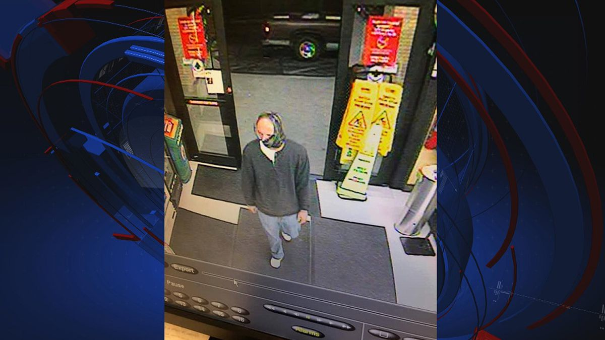 Upon arrival at the store, deputies determined that a white man with a camouflage mask, gray...