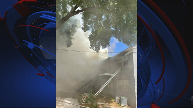 """The Valdosta Fire Department says it responded to a """"two-alarm fire"""" located at 1635 East Park..."""