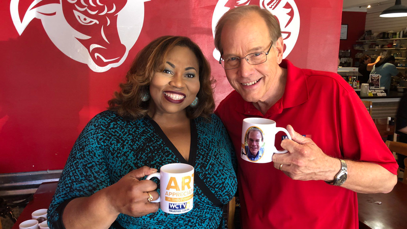 Myers��� former co-anchor Shonda Knight joined him at BW's Grill to reminisce and tell viewers...