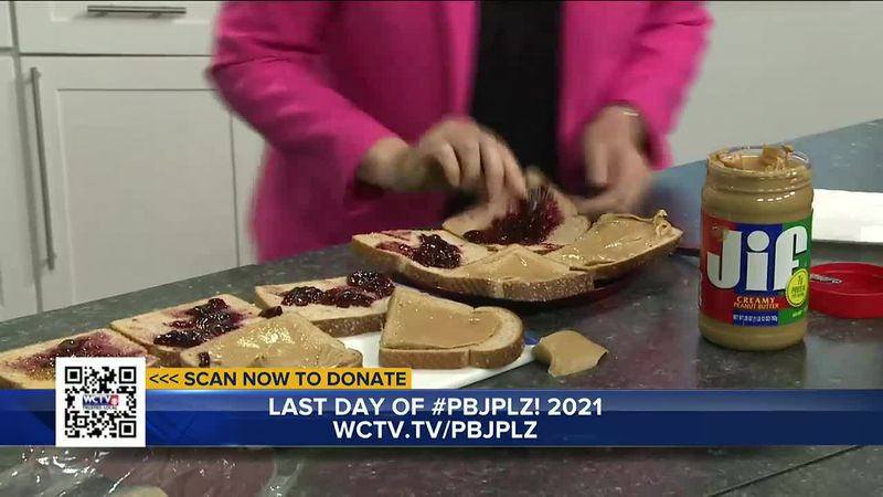 WCTV anchors Julie Montanaro, Lanetra Bennett and Art Myers raced to make the most PBJ...