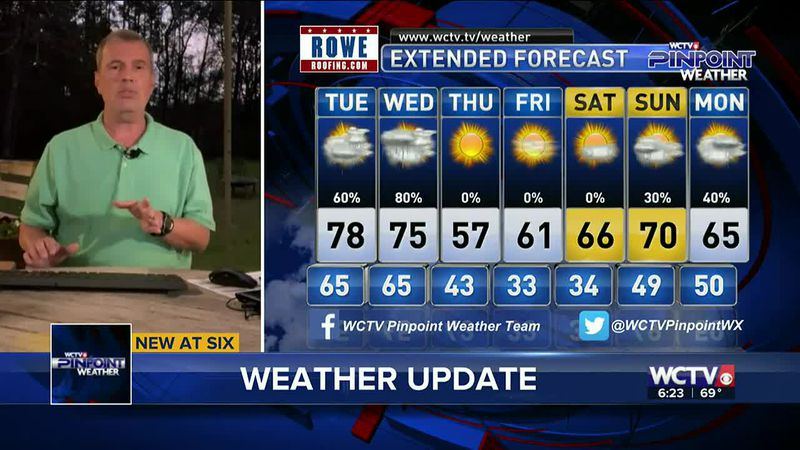Chief Meteorologist Mike McCall takes a look at your forecast for the evening of Monday,...