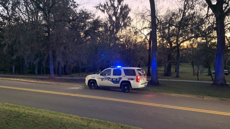 A manhunt is underway at Myers Park Drive and Suwannee Street.