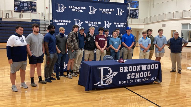 Five Brookwood athletes sign to play at next level