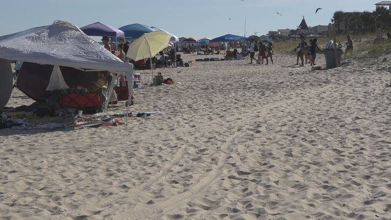 Hundreds gathered at St. George Island for Memorial Day Weekend.