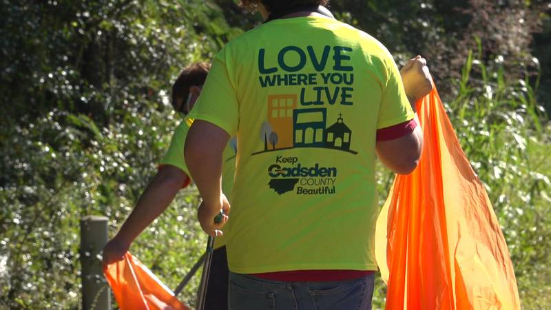 Multiple volunteers and county leaders spent their Saturday cleaning up trash in the Friendship...