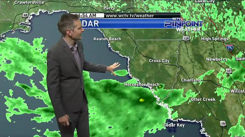 Though Claudette continues to move away from the area, rain chances will still be on the higher...