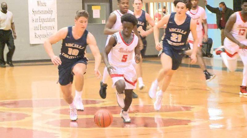 The Munroe Bobcats boys basketball team defeated the Aucilla Christian Warriors, 84-22,...