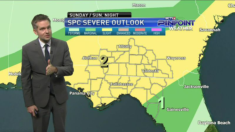 Meteorologist Charles Roop has a look at the severe weather threat and the colder temperatures...