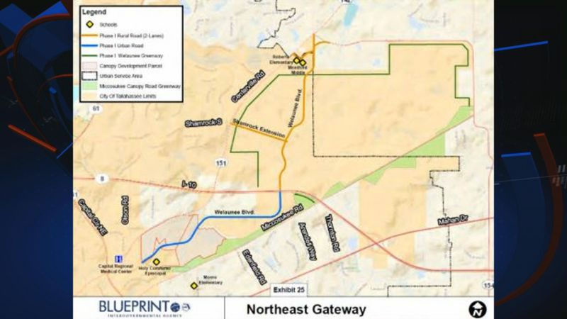 The proposed design for the Northeast Gateway project.