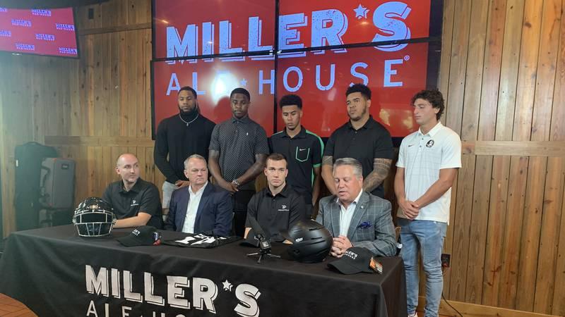 A few Florida State University football players, including transfer quarterback McKenzie...