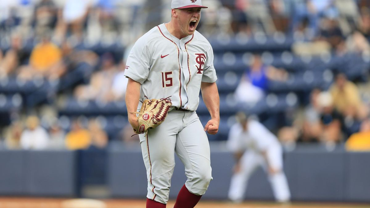 Parker Messick tossed six scoreless innings in FSU's first Oxford Regional game against...