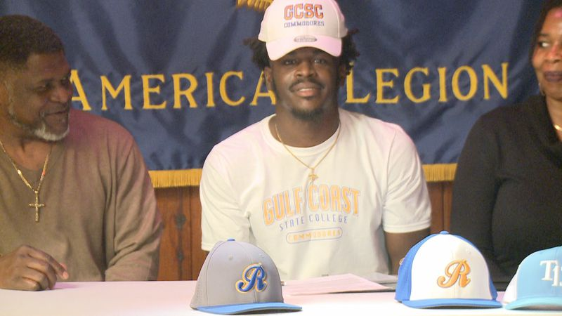 Rickards High School baseball standout Kaleb Henry signed his National Letter of Intent Tuesday...